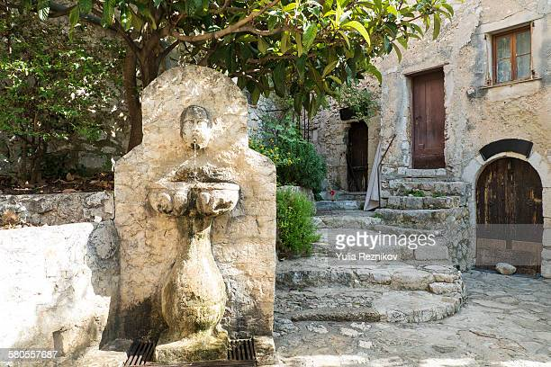 On the street of Eze Village in France