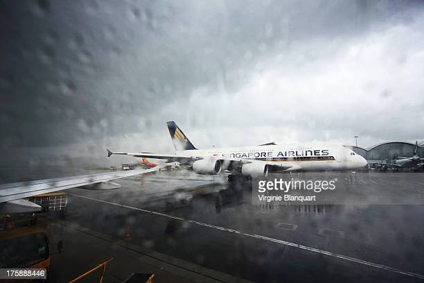 CONTENT] On the tarmac the Airbus A380 Singapore Airlines Typhoons season