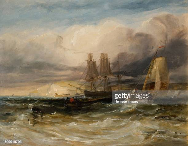 On The Thames - Tilbury Fort, 1840. Artist George Hyde Chambers. .