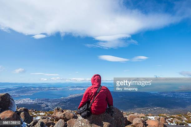 On the top of Mount Wellington of Hobart, Tasmania.