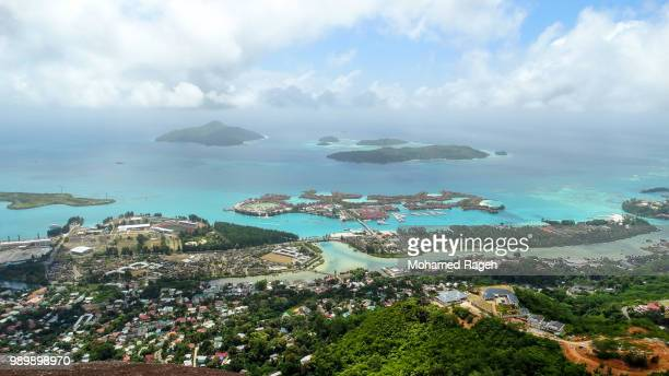 on the top of the island - seychelles stock pictures, royalty-free photos & images
