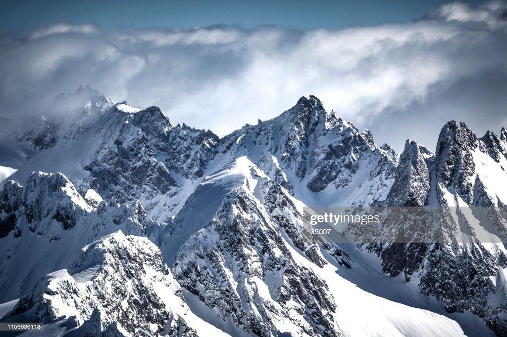 op de top van de Zwitserse Alpen gebergte : Stockfoto