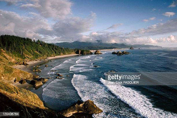 On the tracks of Lewis and Clark in United States in 1997 Cannon Beach in Oregon coast