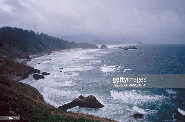 On the tracks of Lewis and Clark in United States in 1997 Landscape in Oregon Coast