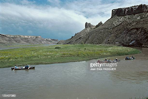 On the tracks of Lewis and Clark in United States in 1997 Missouri river White Cliffs in Montana