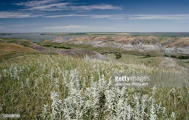 On the tracks of Lewis and Clark in United States in 1997 Missouri river in North Dakota