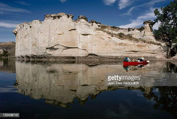 On the tracks of Lewis and Clark in United States in 1997 White Cliffs Missouri river in Montana