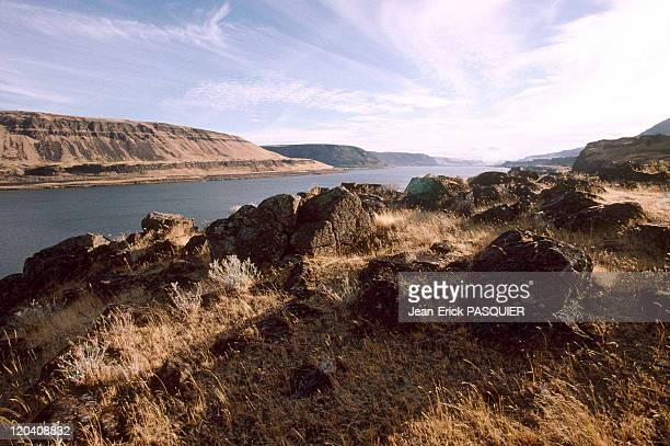 On the tracks of Lewis and Clark in Washington United States in 1997 The gorges of Columbia river