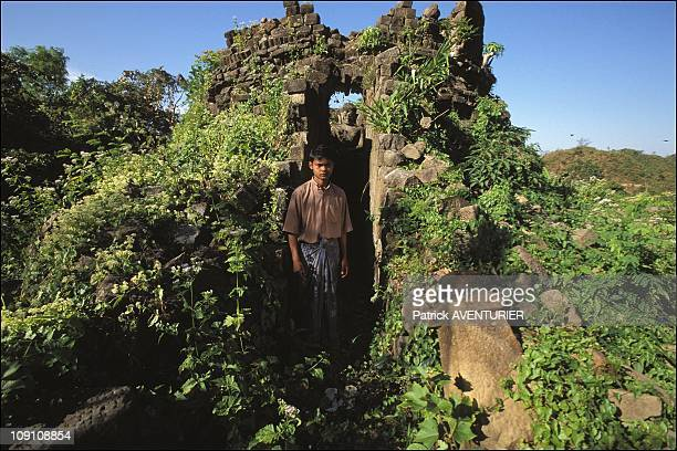 On The Trail Of The Lost Temples On January 1St, 2003 In Mrauku, Myanmar. An Abandoned Pagoda On The Hills Of Mrauk-U