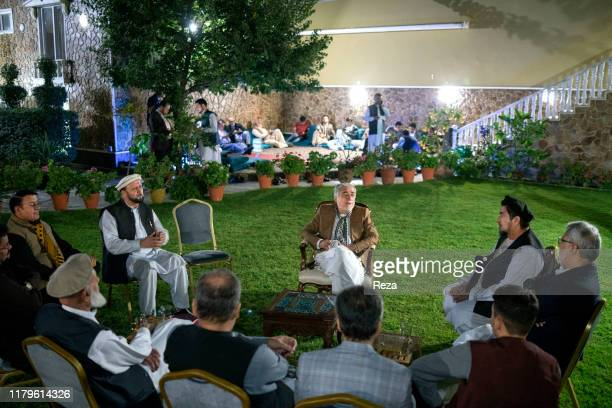 On the voting day, the candidate Dr Abdullah with his staff. Dr Abdullah Abdullah is an Afghan political leader, Chief Executive Officer of the...