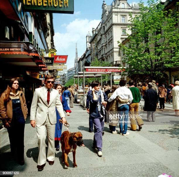 On the way in Ksrtner Street of Vienna Austria 1980s