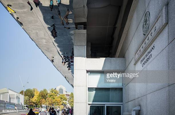 on the way to ewha womans university, seoul, korea - vsojoy stock pictures, royalty-free photos & images
