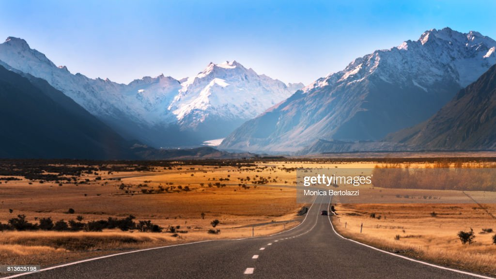 On the way to Mount Cook #2 : Stock Photo