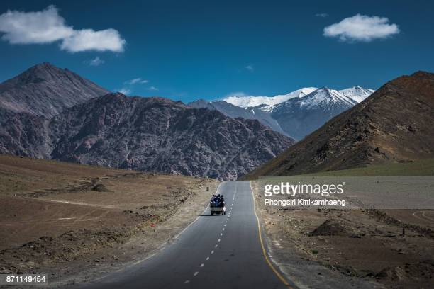 On the way to Nowhere: Lovely Landscape view at Magnetic Hill, Ladakh, India