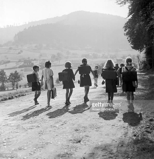 On The Way To School Around 1945