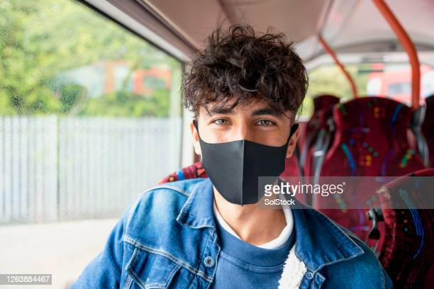 on the way to school - protective face mask stock pictures, royalty-free photos & images
