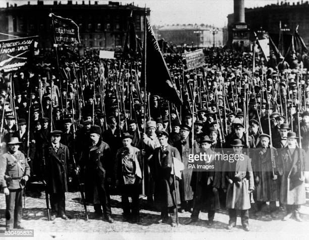 On this day in 1917 the February Revolution in Russia begins Bolshevik demonstration in the streets of Petrograd during the days when the Kornilov...