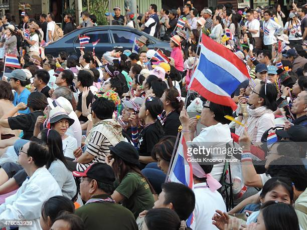 On this day there were thousands of protesters on the streets around Asoke. Traffic was shut down for blocks around. Protesters all seemed to be in a...