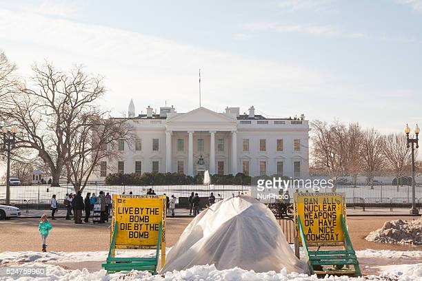 C — On Thursday January 28 an antinuclearproliferation vigil stationed alongside Pennsylvania Avenue in front of the White House has been there for...