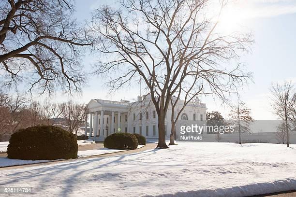 C — On Thursday January 28 outside of the White House