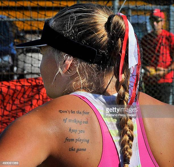 On Thursday July 18 with ribbons in her hair and a tattoo on her shoulder expressing her playing philosophy My Tornblom one of two pitchers on the...