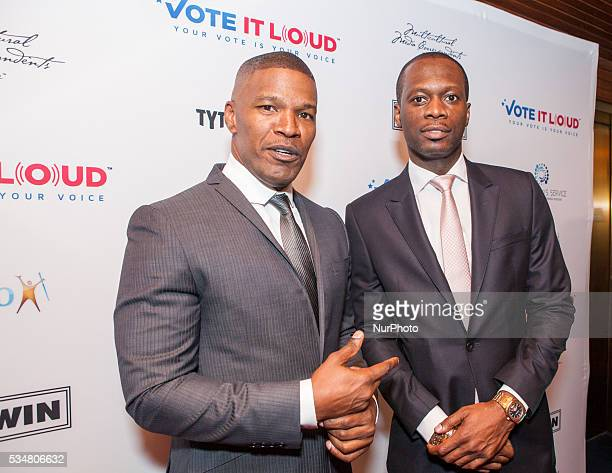 On Thursday May 26 at The National Press Club Ballroom Jamie Foxx actor singer songwriter and comedian and Pras Michel Vote it Loud Chair and Grammy...