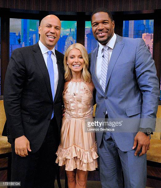 MICHAEL 7/8/13 On today's LIVE Newark Mayor Cory Booker chatted with Kelly Ripa and Michael Strahan about the upcoming charity golf tournament hell...