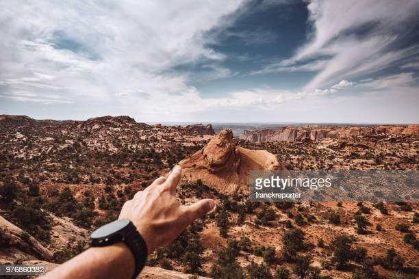 au sommet du parc national de canyonlands