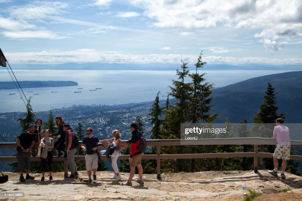 On top of Grouse Mountain, North Vancouver, Canada : Stock Photo