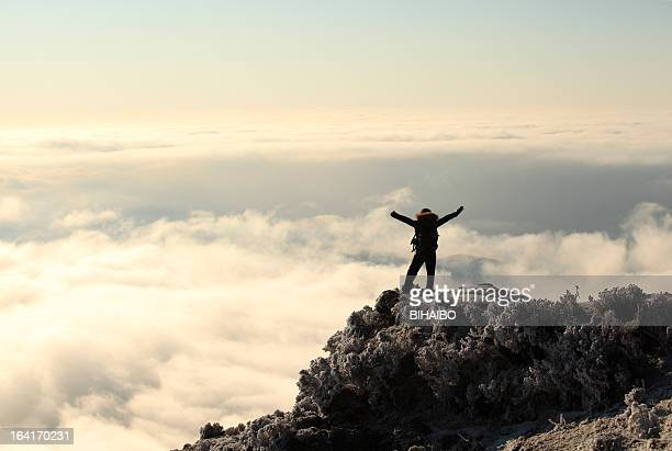 on top of the mountain - color climax stock pictures, royalty-free photos & images