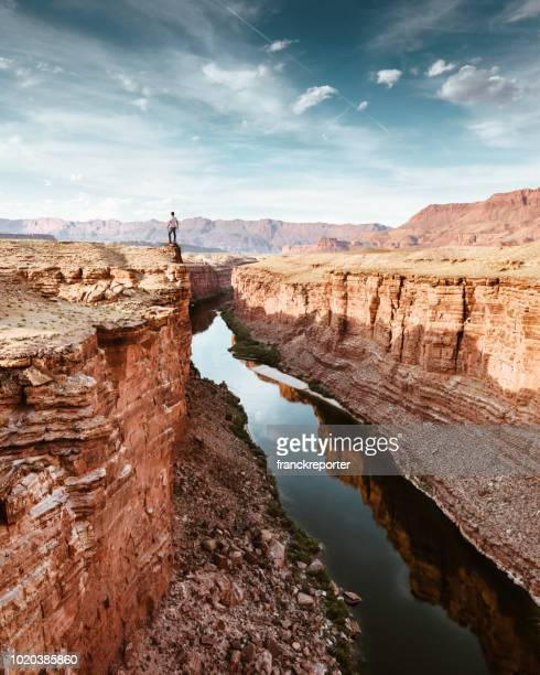 on top of the rock at the moab - moab utah stock pictures, royalty-free photos & images