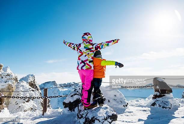 Auf dem Schnee-Berge