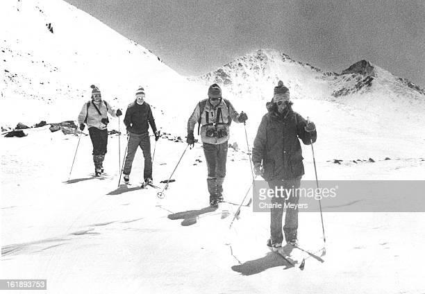 APR 23 1980 APR 24 1980 DEC 14 1982 DEC 19 1982 On Top of the Ten mile Range Crystal Peak is backdrop for two skiers