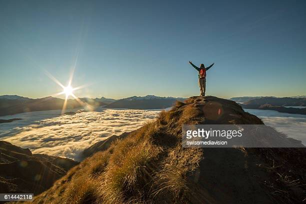 on top of the world - on top of stock photos and pictures