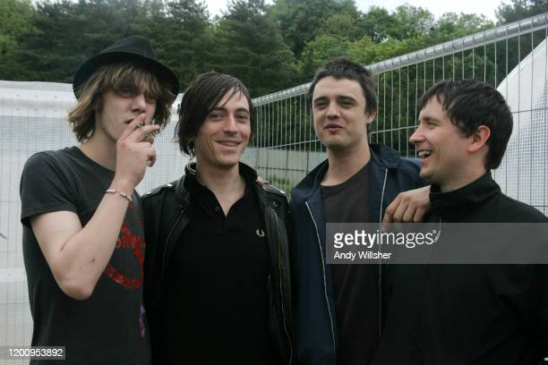 On tour with Babyshambles featuring Pete Doherty at Homelands Festival in May 2005