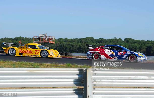 On track with the Kodak Grand Am Race car at the inaugural Rolex Grand Am Race at New Jersey Motorsports Park in 2008