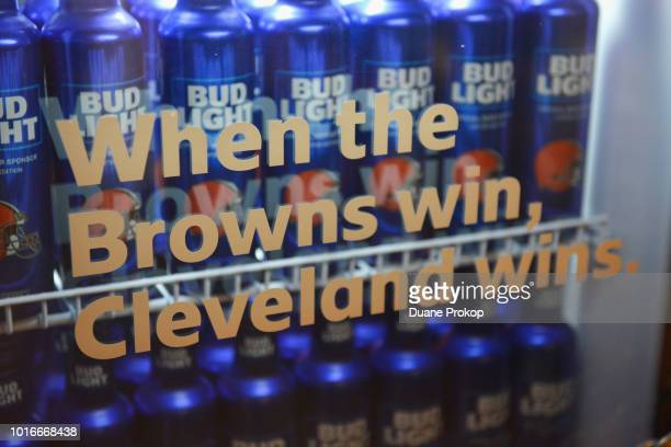"""On Tuesday, August 14 Bud Light and the Cleveland Browns unveiled the """"BrownsVictory Fridge"""" in Cleveland with the help of Browns legends Felix..."""