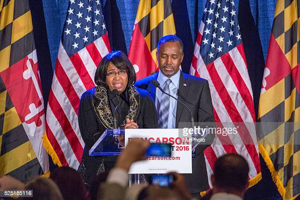BALTIMORE MARYLAND — On Tuesday March 1 at the Grand Hotel in the Corinthian Ballroom Candy Carson and Dr Ben Carson at Super Tuesday Election Night...