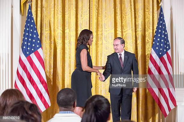 On Tuesday, November 17 First Lady Michelle Obama welcomes distinguished guest Ambassador of Honduras, Alberto Milla Reyes to the 2015 National Arts...
