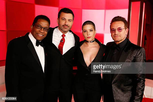 LIVE On TUESDAY NOVEMBER 22 Walt Disney Television via Getty Images's Jimmy Kimmel Live is once again joining forces with Bono and for a special...