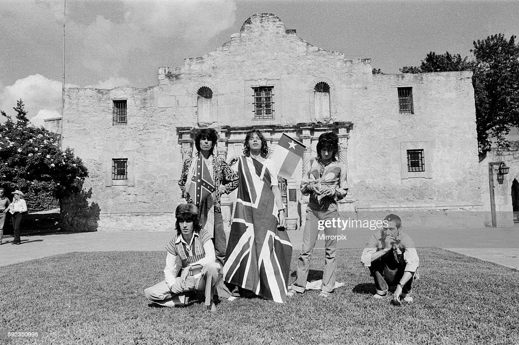 On Wednesday 4 June 1975 The Rolling Stones did a photo shoot at the Alamo, San Antonio, Texas for the Daily Mirror.
