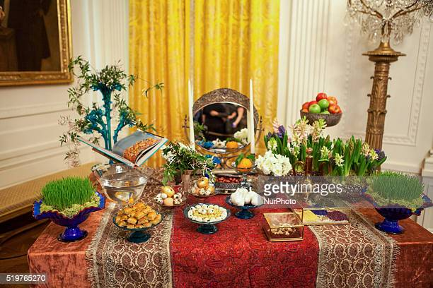 On Wednesday April 6 in the East Room of The White House the traditional Nowruz table known as the Haft Seen which included seven items symbolizing...