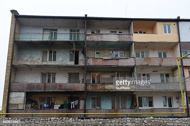 On Wednesday, May 18, 2016: A view of an appartment-block, used for families internally displaced from the border regions due to the Nagorno-Karabakh...