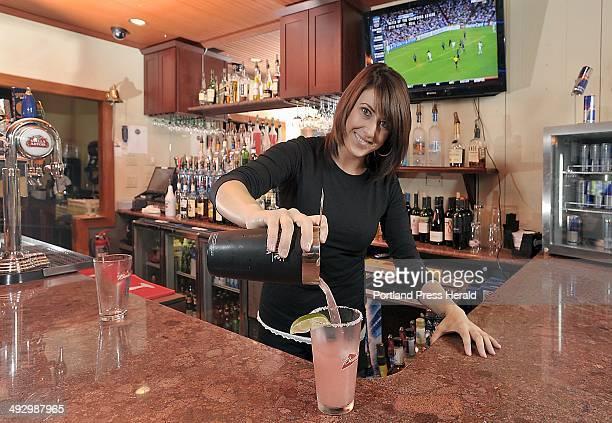 On Wednesday September 19 Amanda Churchill bartender at The Loft makes an X Rated Margarita using Jose Cuervo tequila Triple Sec splash of Rose's...