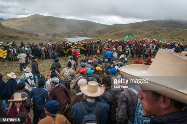 On World Water Day indigenous populations protest the Conga Gold Mine a project proposed by Newmont Mining Co that is feared to contaminate the water...