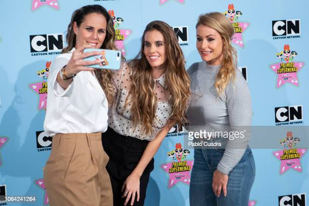 Ona Carbonell Amaya Valdemoro and Lidia Valentin attend the 'Supernenas Awards' photocall on November 22 2018 in Madrid Spain