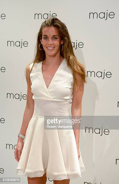 Ona Carbonell attends the 'Maje Boutique' store opening on April 16 2015 in Barcelona Spain