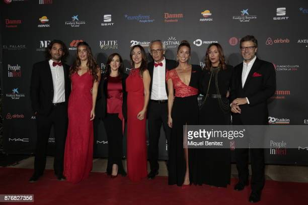 Ona Carbonell Carme Barcelo Bonaventura Clotet Gemma Mengual and Joan Vehils attend the 'People in Red' Charity Party event for investigation against...