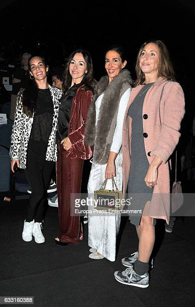 Ona Carbonell Elsa Anka and Gemma Mengual attend the TCN show during the Barcelona 080 Fashion Week Autumn/Winter 2017 on January 30 2017 in...