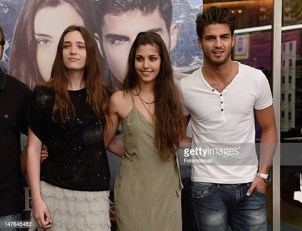 Ona Casamiquela Aida Flix and Maxi Iglesias attend a photocall for 'El Secreto de los 24 Escalones' at the Palafox Cinema on July 2 2012 in Madrid...